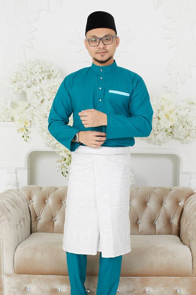 Turquoise CLASSIQUE Baju Melayu