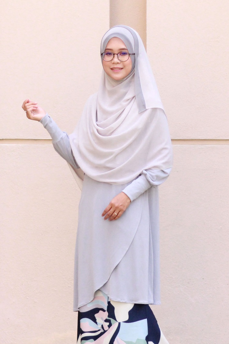 Cool Grey NADRA Nursing Blouse