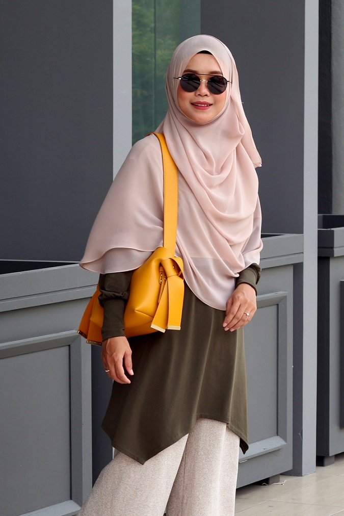 Dark Olive NADINE Nursing Blouse