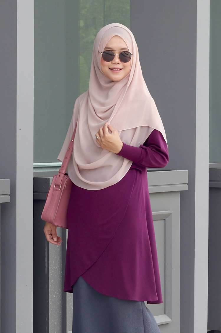 Dark Purple NADRA Nursing Blouse
