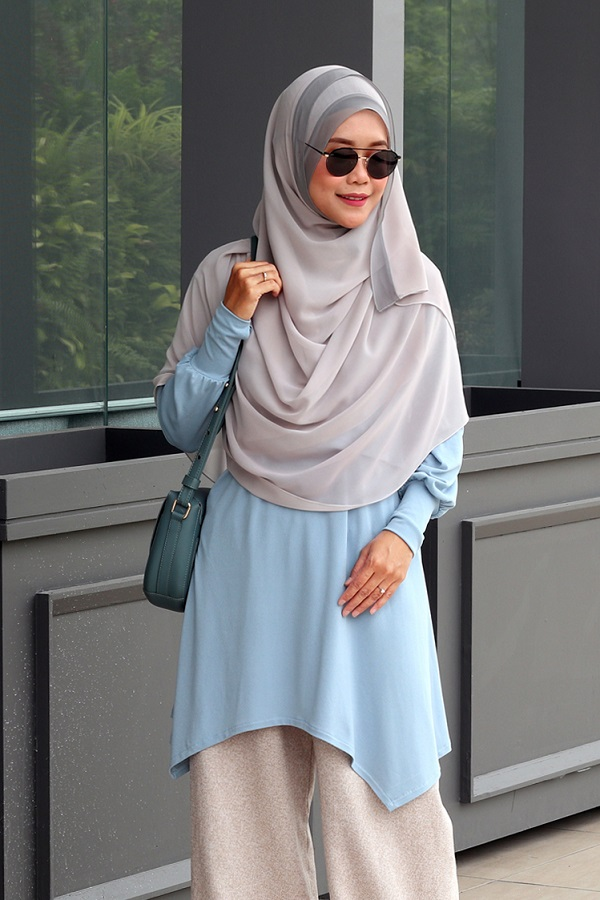 Powder Blue NADINE Nursing Blouse