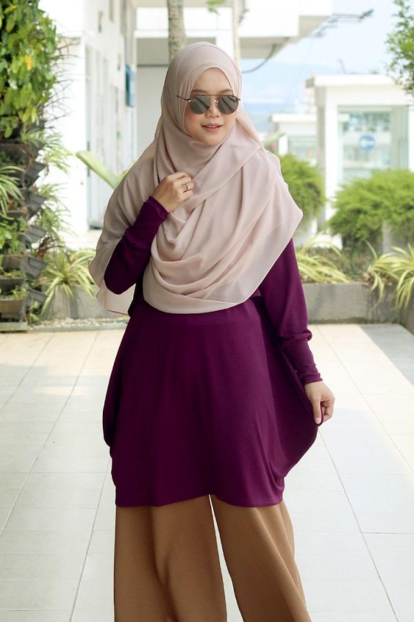 Purple SOFYA Nursing Blouse