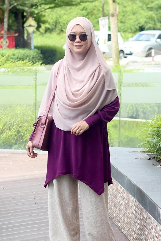 Purple NADINE Nursing Blouse
